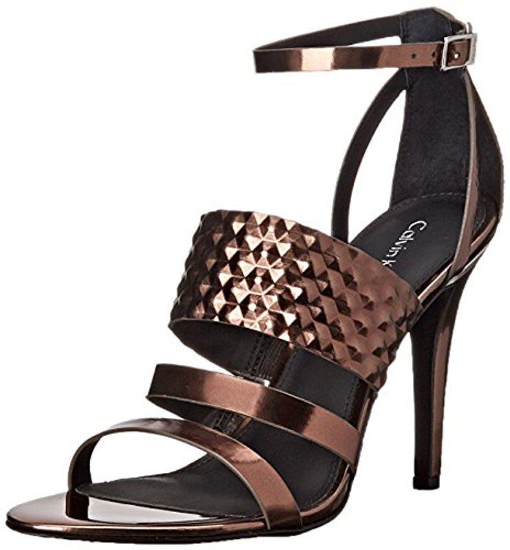 Calvin Klein. Women's Brown Mayra Dress Sandal