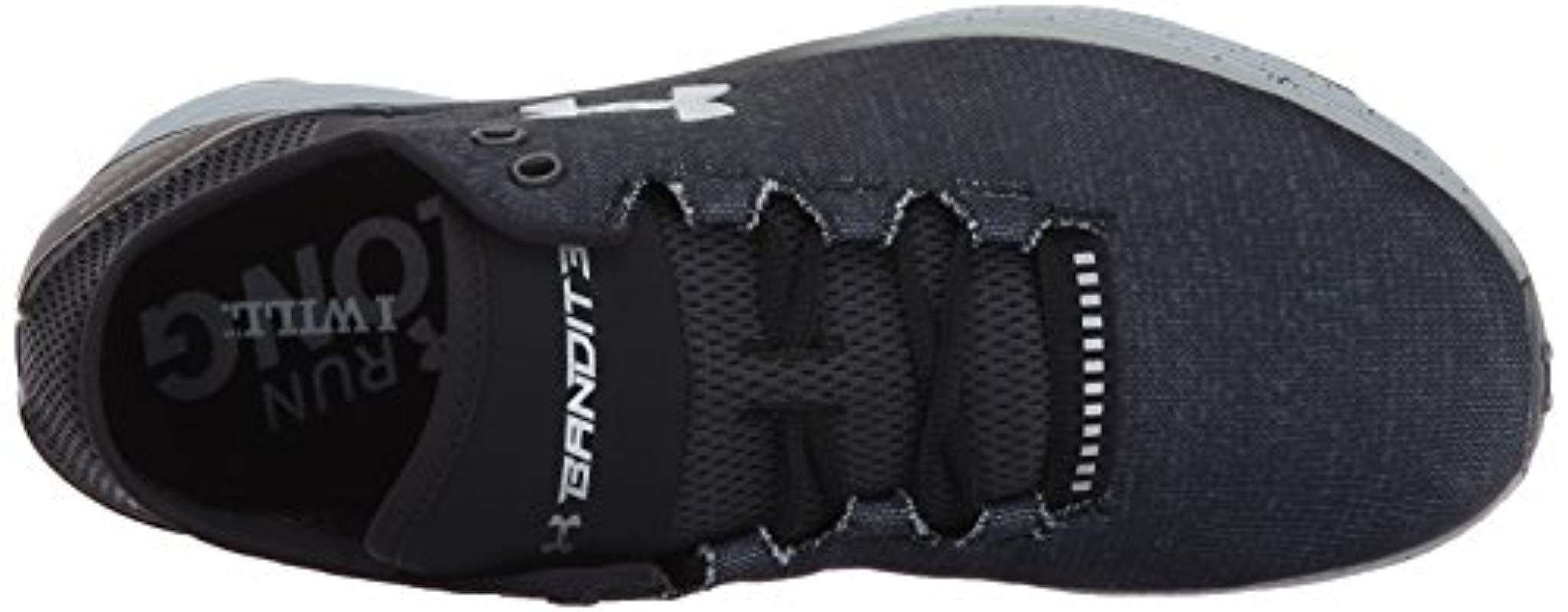 f6cce659e62 Under Armour - Gray Ua Charged Bandit 3 Running Shoes for Men - Lyst. View  fullscreen