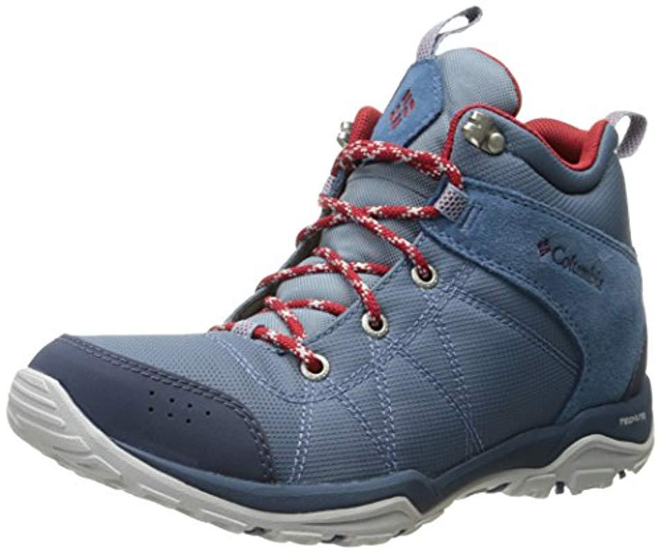 47198b18548 Columbia Blue Fire Venture Mid Textile Multisport Outdoor Shoes