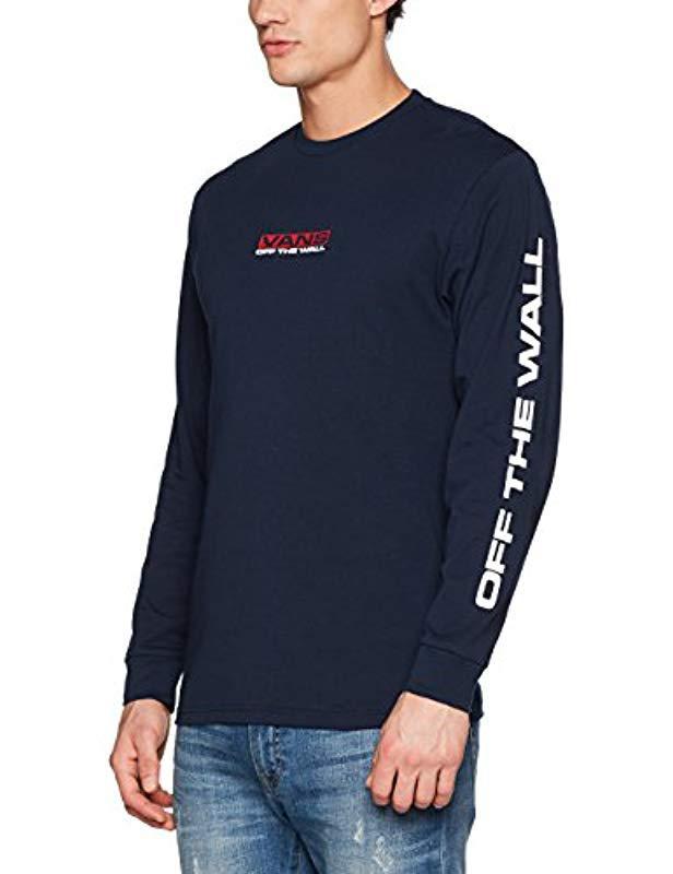 4951d03b2c35c4 Vans Side Waze Ls T-shirt in Blue for Men - Lyst