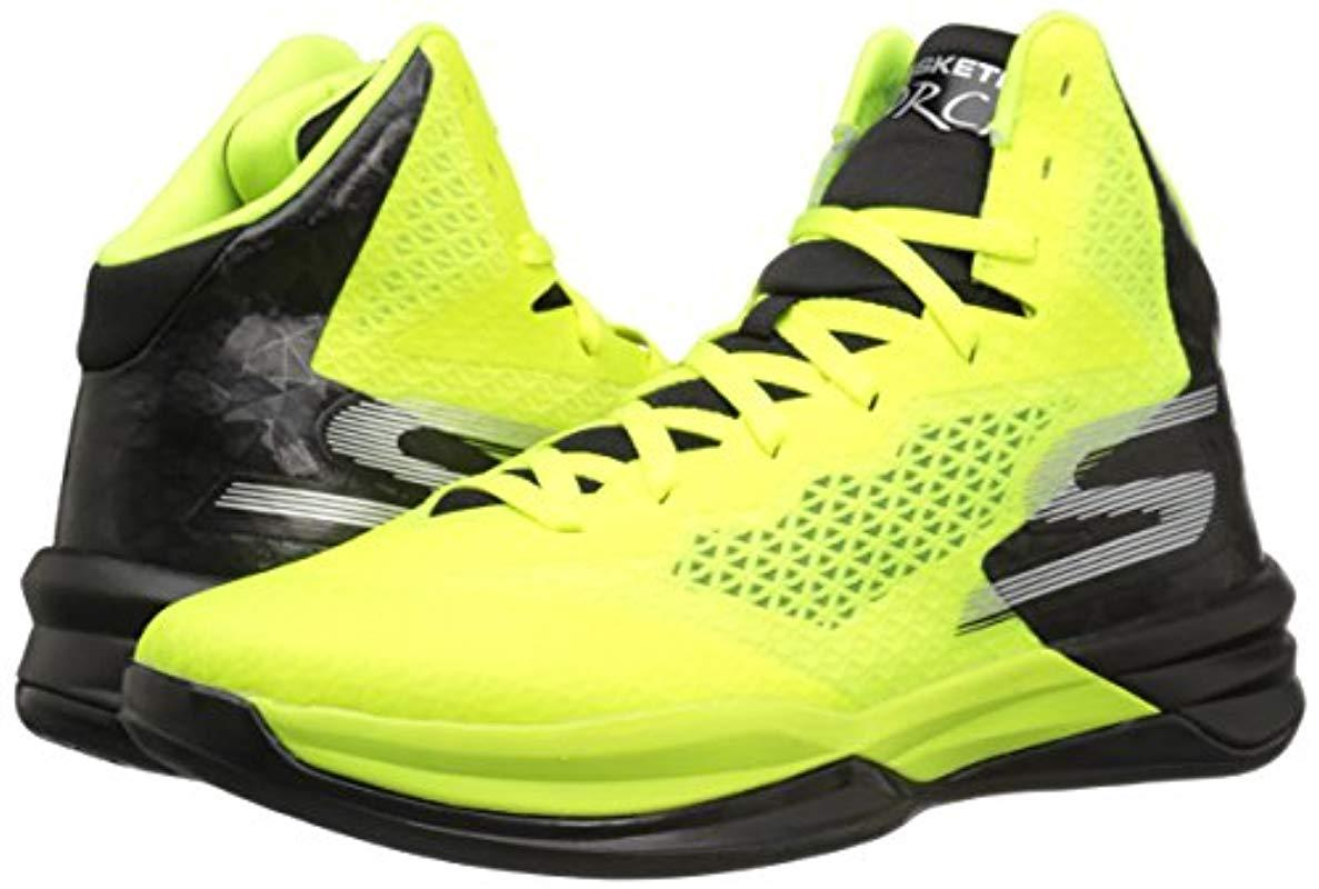 Skechers Synthetic Performance Go Torch Basketball Shoe in Lime/Black (Yellow) for Men