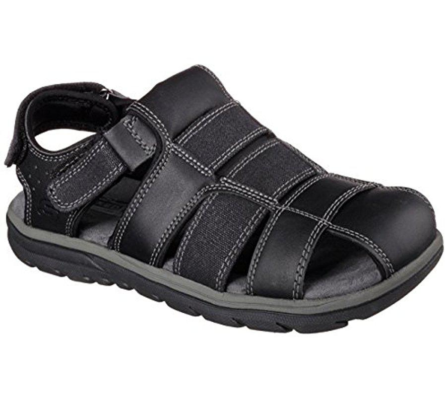 20302983350e Lyst - Skechers Usa Olvero Fisherman Sandal in Black for Men