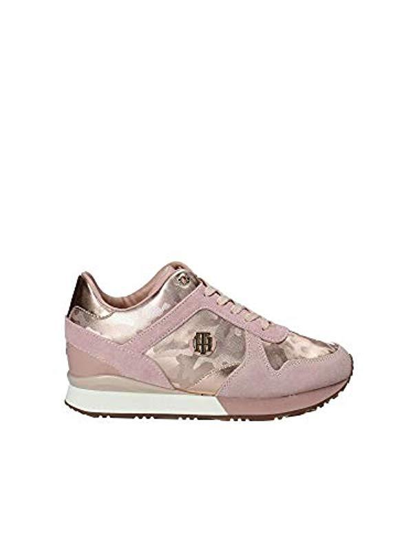 Tommy Hilfiger Damen Camo Metallic Wedge Sneaker