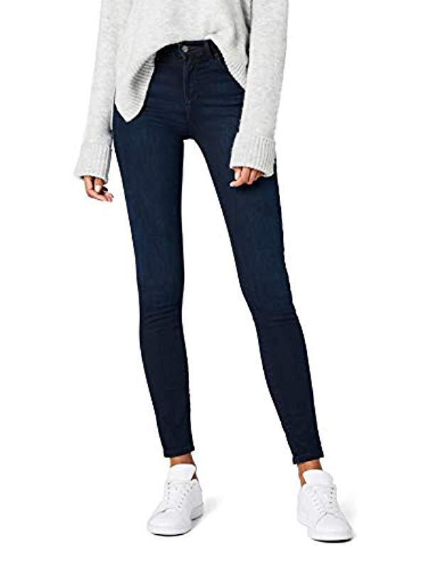 4630917f Wrangler High Rise Skinny Jeans in Blue - Save 54% - Lyst