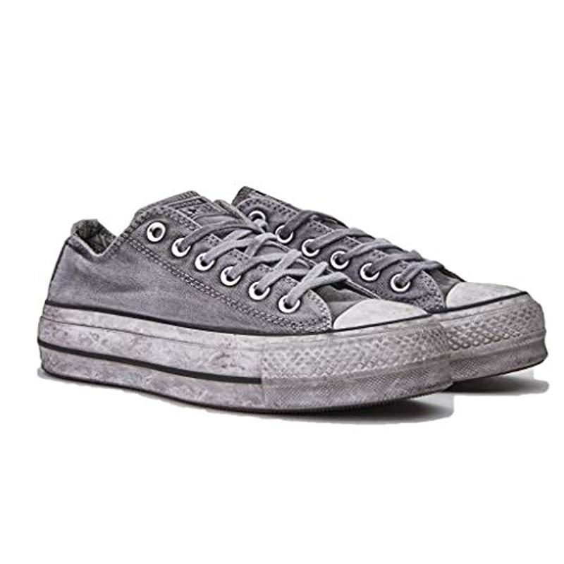 a3374c252a Converse Chuck Taylor All Star Ox Lift Donna Mod. 56311 in Gray - Lyst