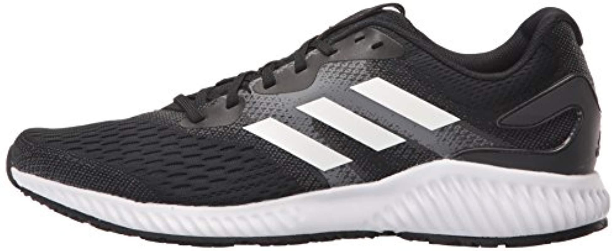 adidas Synthetic Aerobounce M Running Shoe in Black/White/White (Black) for Men