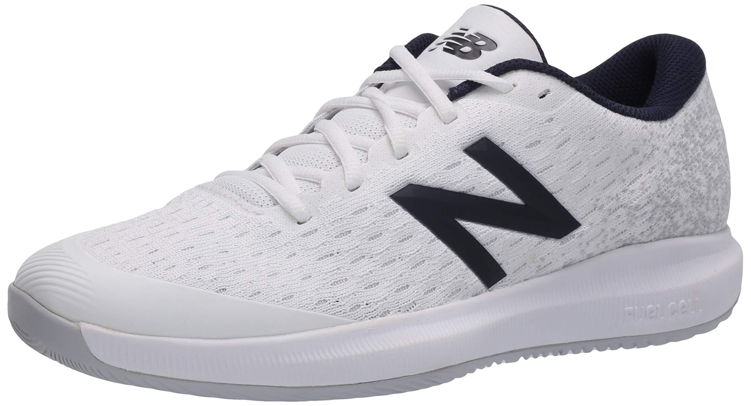 New Balance Synthetic Fuelcell 996 V4 Tennis Shoe in White/Grey ...