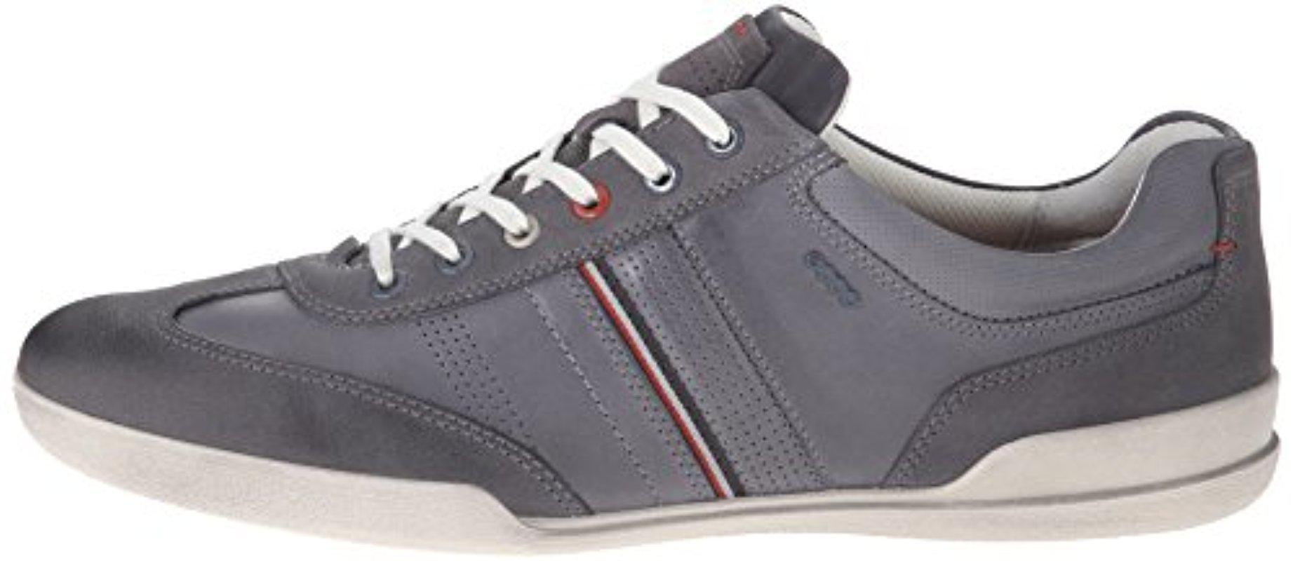 Ecco Suede Enrico Retro Oxford Shoe for