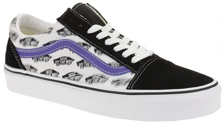 Blur Boards Chaussures de skateboard pour homme Noir Bleu roi Vans ...