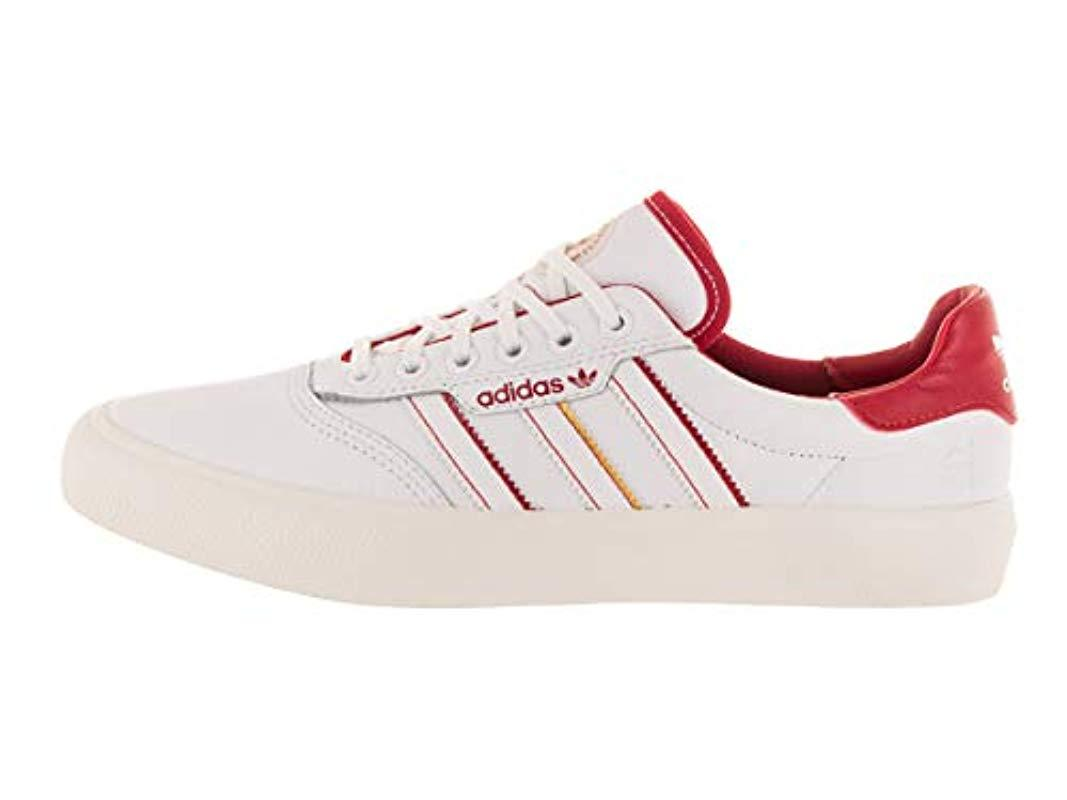 Brillante cuestionario Contaminar  adidas Leather 3mc X Evisen Cloud White/scarlet/gold Metallic Skate Shoe  11.5 Us for Men - Lyst