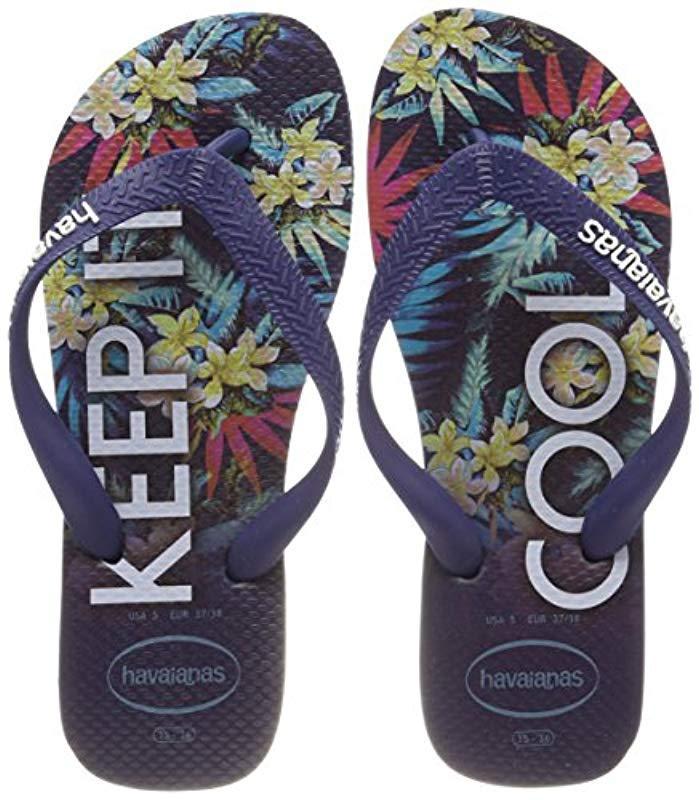 eddaf26e4 Havaianas - Blue Top Tropical Flip Flops for Men - Lyst. View fullscreen