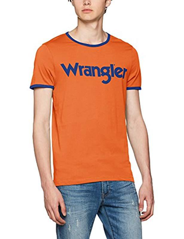 Wrangler Kabel Tee T-shirt in Orange for Men - Save ... 584d5c02018
