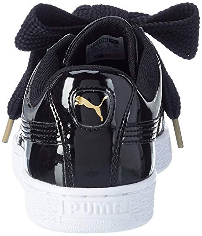 d73afdb5fd17 PUMA Basket Heart Patent Low-top Sneakers in Black - Save 62% - Lyst