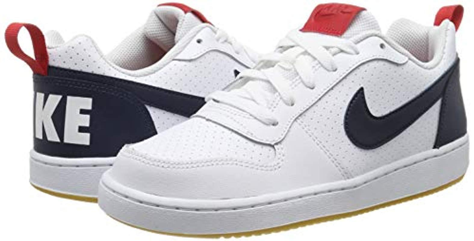 Court Borough Low (GS), Zapatos de Baloncesto para Niños Nike de hombre de color Blanco