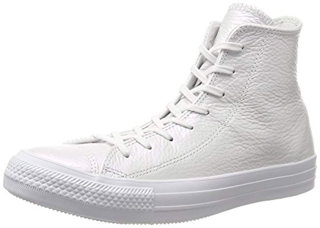 47fb4555866706 Converse Unisex Adults  Ctas Hi White Top Trainers in White for Men ...