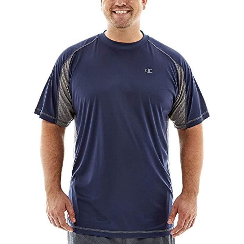 7298a4b94 Lyst - Champion Big-tall Vapor Performance T-shirt in Blue for Men