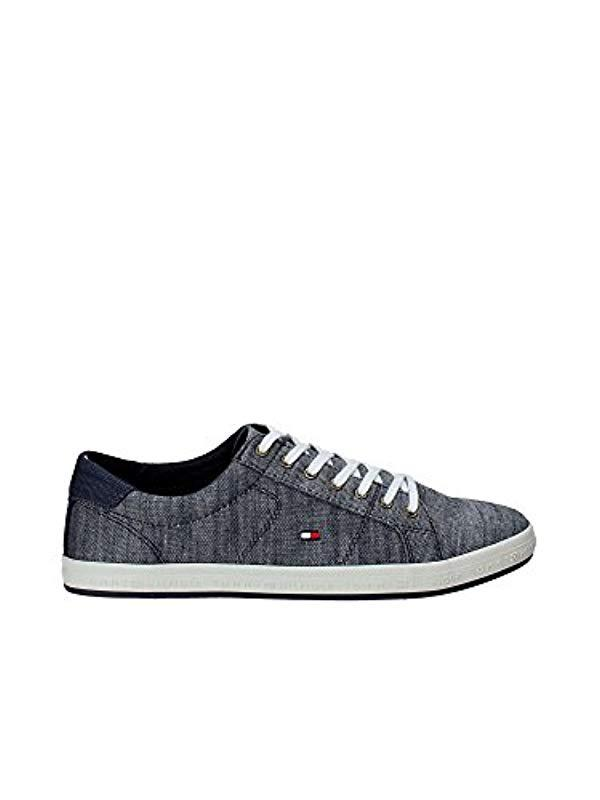 4fb2f9d43f08 Tommy Hilfiger  s Essential Pique Denim Sneaker Low-top in Blue for ...