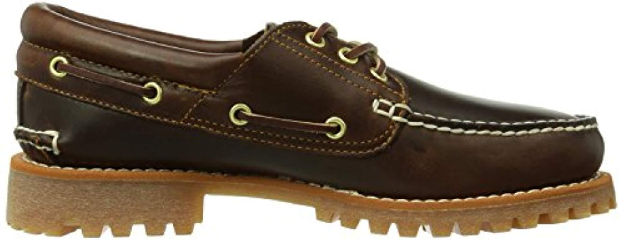 sacudir Marcar Pisoteando  Timberland Authentics Ftm_tfo Classic 3 Eye Lug, Loafers in Brown (b)  (Brown) for Men - Lyst