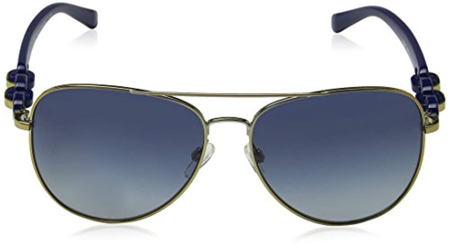 38d0778bcb3 Michael Kors - Pandora Aviator Sunglasses In Pale Gold Blue Gradient Mk1015  11324l 58 - Lyst. View fullscreen