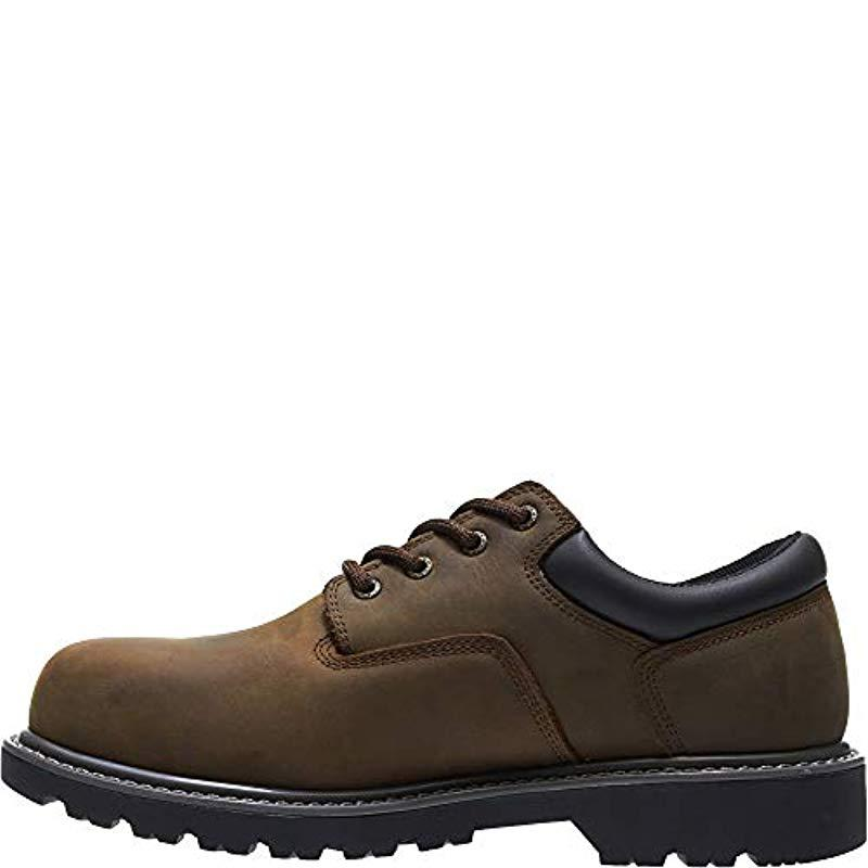 Wolverine Men/'s Floorhand Oxford Steel Toe Construction Shoe 10 M US Brown
