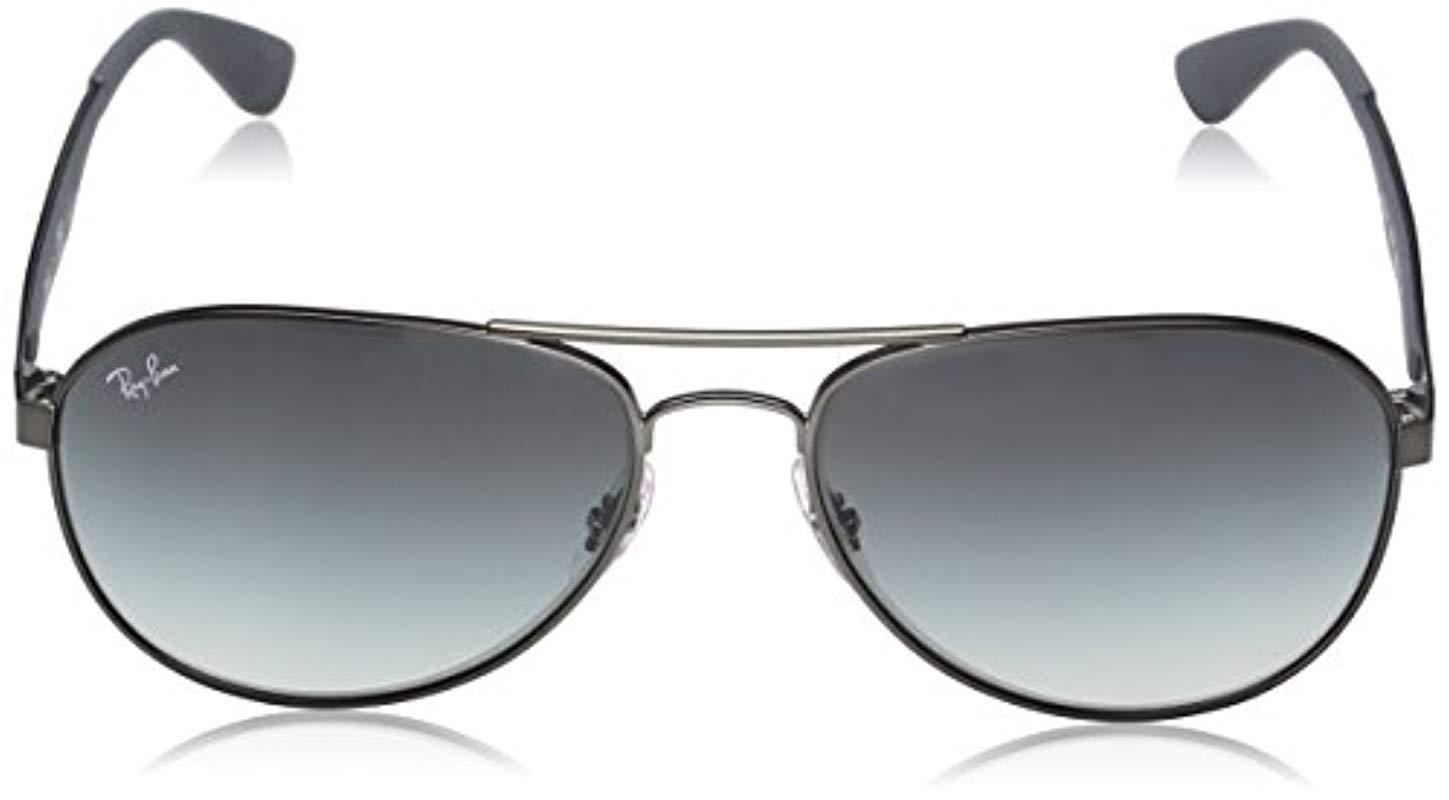 34b85ce4c4 Ray-Ban - Gray Aviator Sunglasses In Matte Gunmetal Rb3549 029 11 61 for.  View fullscreen