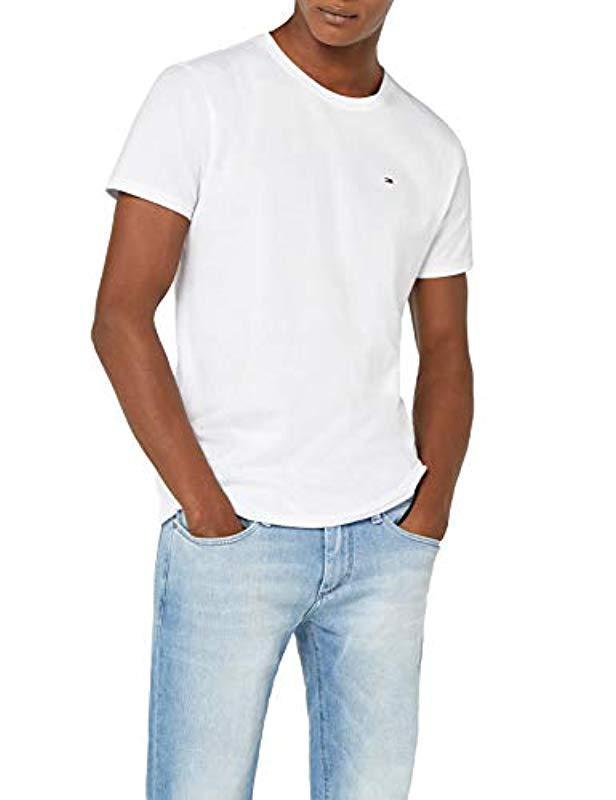 8ca7104a Tommy Hilfiger. Men's White Original Jersey Short Sleeve Crew Neck T-shirt