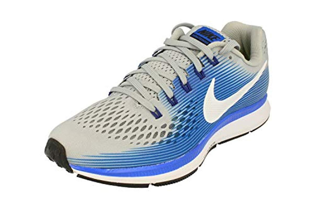 best website 35a8c a7103 Nike 's Air Zoom Pegasus 34 Running Shoes White/blue in Blue ...