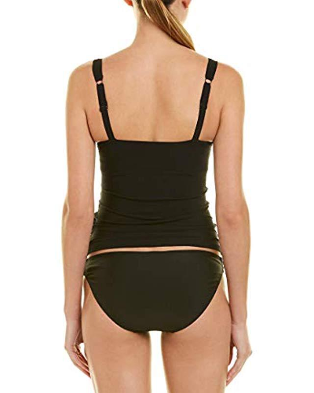 7d0186f0721 Lyst - Gottex Sweetheart D-cup Tankini Top Swimsuit in Black