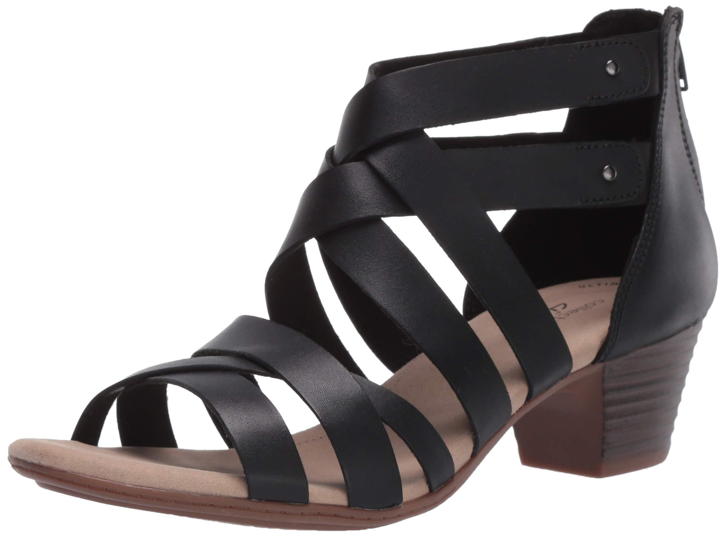 Details about  /Clarks Women/'s Valarie Dream Heeled Sandal Choose SZ//color