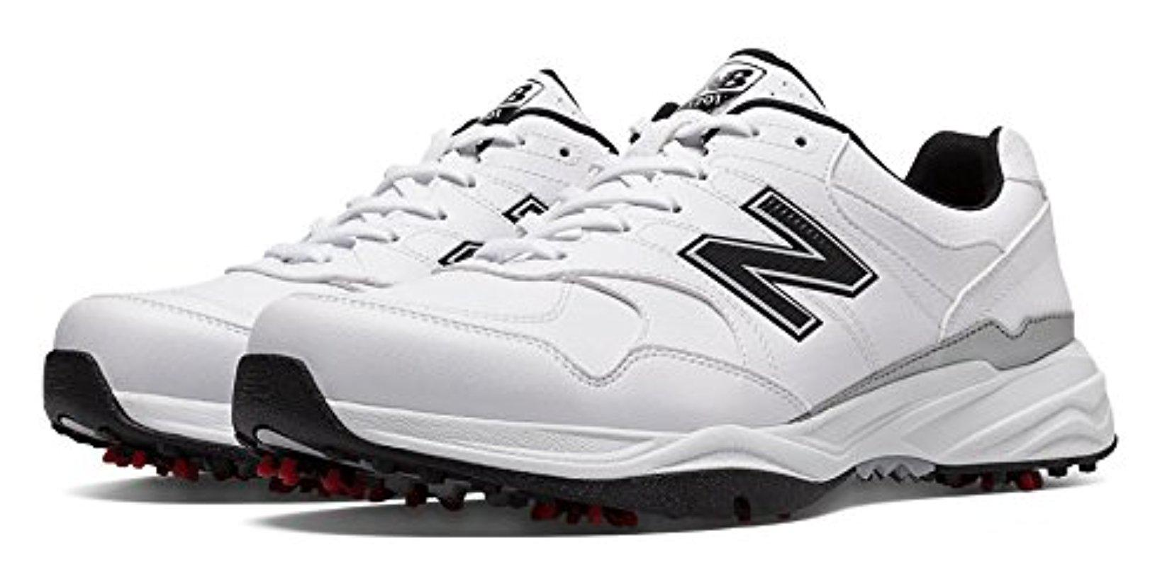 Nbg1701 Spiked Golf Shoe in White
