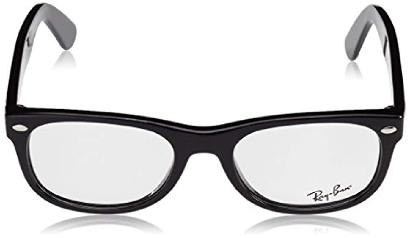 606c854f57 ... Black Glasses Ray Ban Frame New Wayfarer Rx5184 2000 50 – 18. View  fullscreen