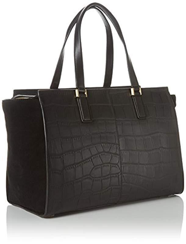 75e5a98f54d Calvin Klein Shari Croc Large Tote Bag, (black 001), 18x24x49 Cm (b X H X  T) in Black - Lyst
