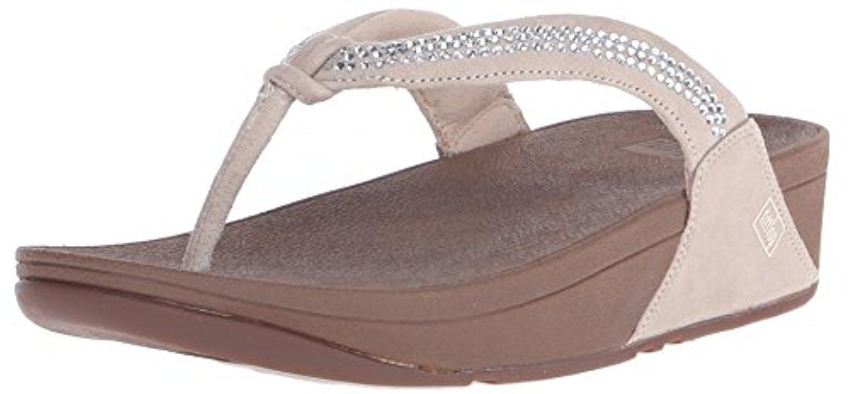 4c44e03b0700 Lyst - Fitflop Crystal Swirl Flip-flop in Brown - Save 31.0%