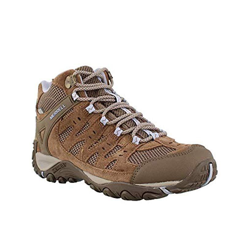 0562a010e44 Merrell Brown Accentor Mid Vent Waterproof Hiking Boot for men