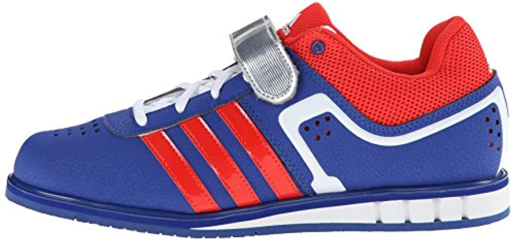 adidas Synthetic Performance Powerlift.2 Trainer Shoe in Blue for Men