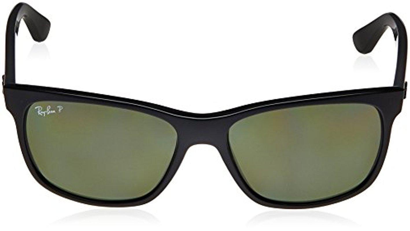 b30921470fb Lyst - Ray-Ban Rb4181 - Shiny Black Frame Polar Green Lenses 57mm ...