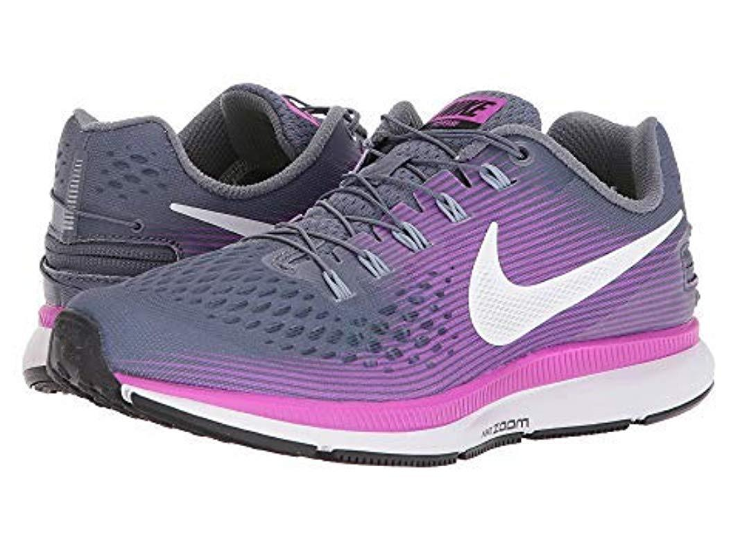 2cc4e1497664 Nike W Air Zoom Pegasus 34 Flyease Running Shoes in Purple - Lyst