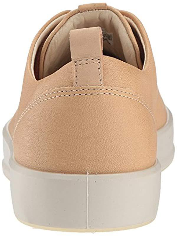 Ecco Leather Soft 8 Sneaker in Powder (Natural)