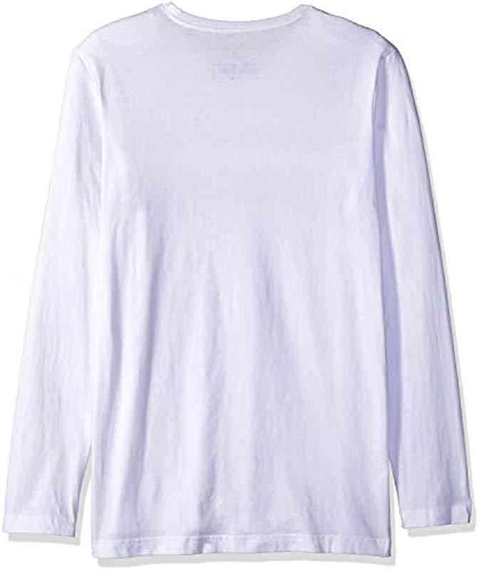 de7f37be Lyst - Tommy Hilfiger Modern Essentials Cotton Jersey Crew Neck Long Sleeve  Shirt in White for Men