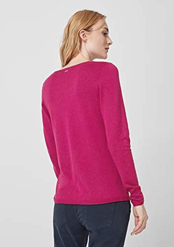 S.oliver RED Label Leichter V-Neck-Pullover in Pink PaOxe