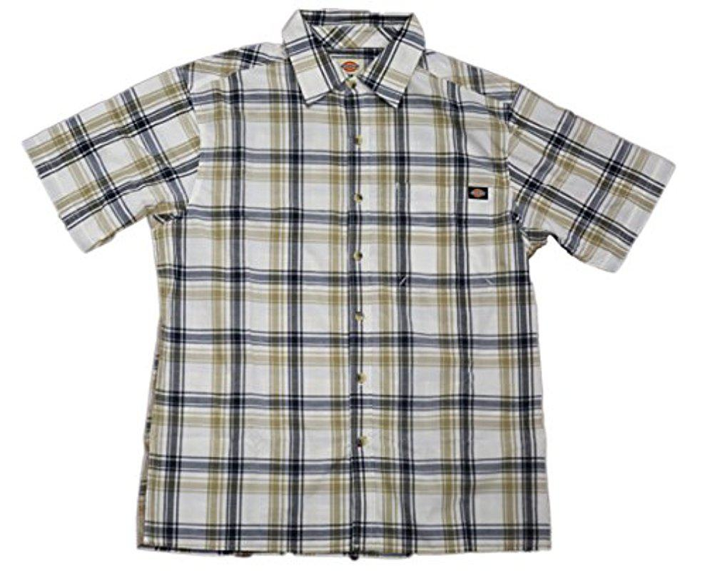 b4d83e571bc Dickies Plaid Short Sleeve Shirts