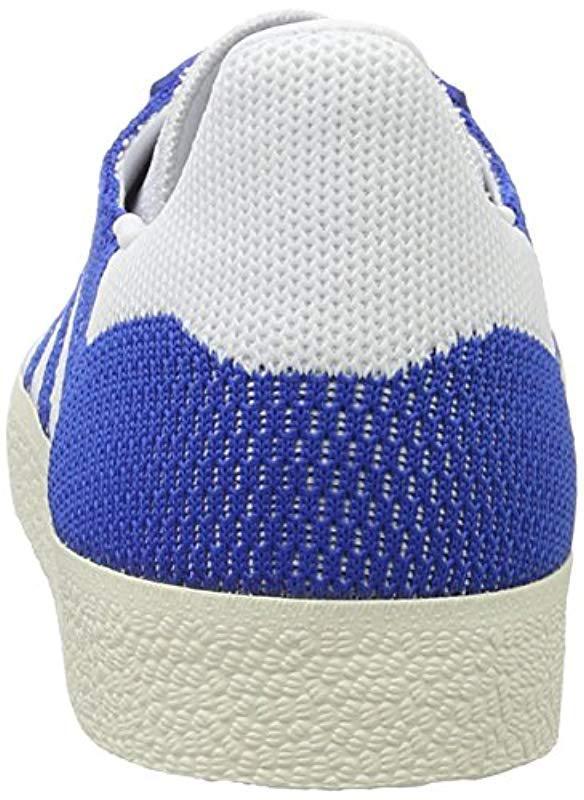 new concept 5b00e 4bd6b Adidas - Blue Gazelle Primeknit Trainers for Men - Lyst. View fullscreen