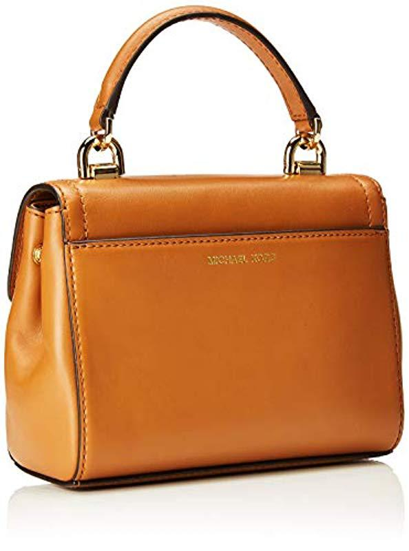 8f12aa6ebe Michael Kors - Brown Ava Extra-small Leather Crossbody Cross-body Bag -  Lyst. View fullscreen