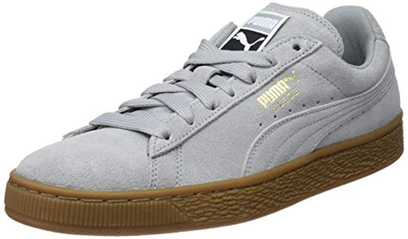f71396c2f87f Puma Unisex Adults  Suede Classic Gum Trainers in Gray for Men - Lyst
