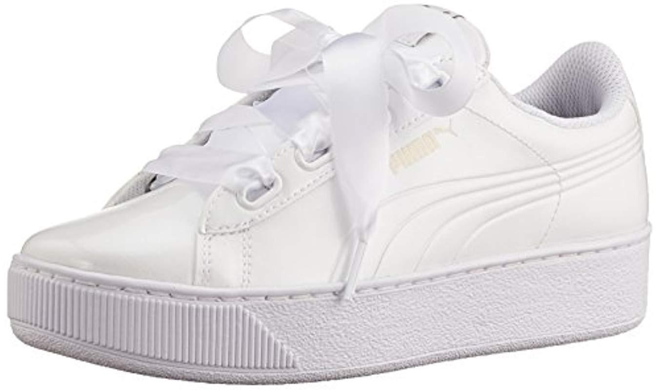 PUMA  s Vikky Platform Ribbon P Low-top Sneakers in White - Lyst 7d696589c
