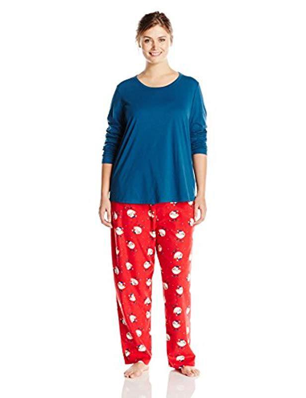 1af4c02b8be92 Lyst - Jockey Plus-size Microfleece Pajama Set in Blue
