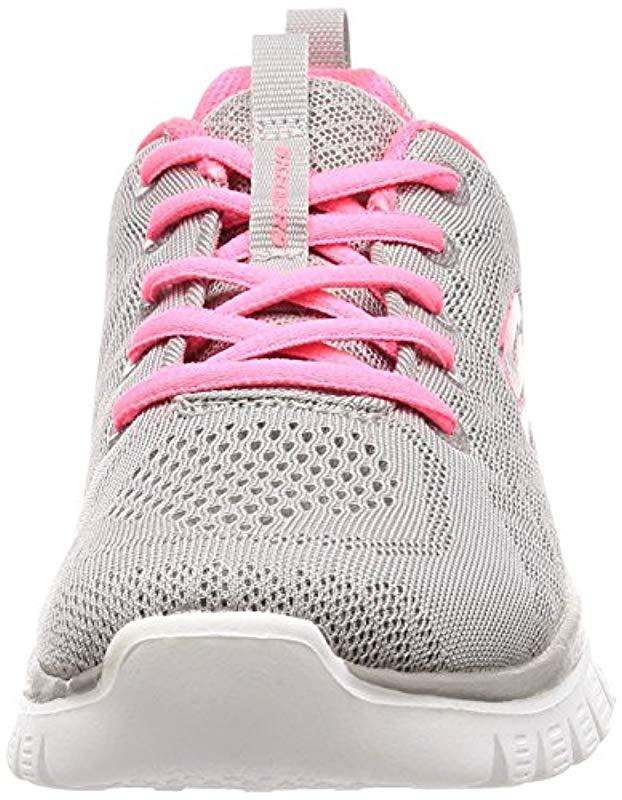 Skechers Graceful-get Connected Sneaker in Grey (Grey/Coral) (Grey)