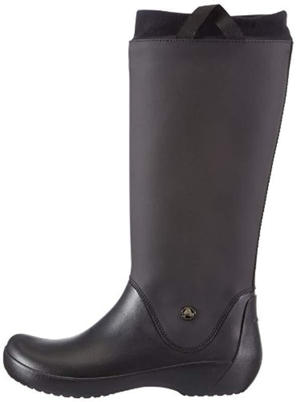 Crocs�?Rainfloe Boot Rain in Black (Black/Black) (Black)