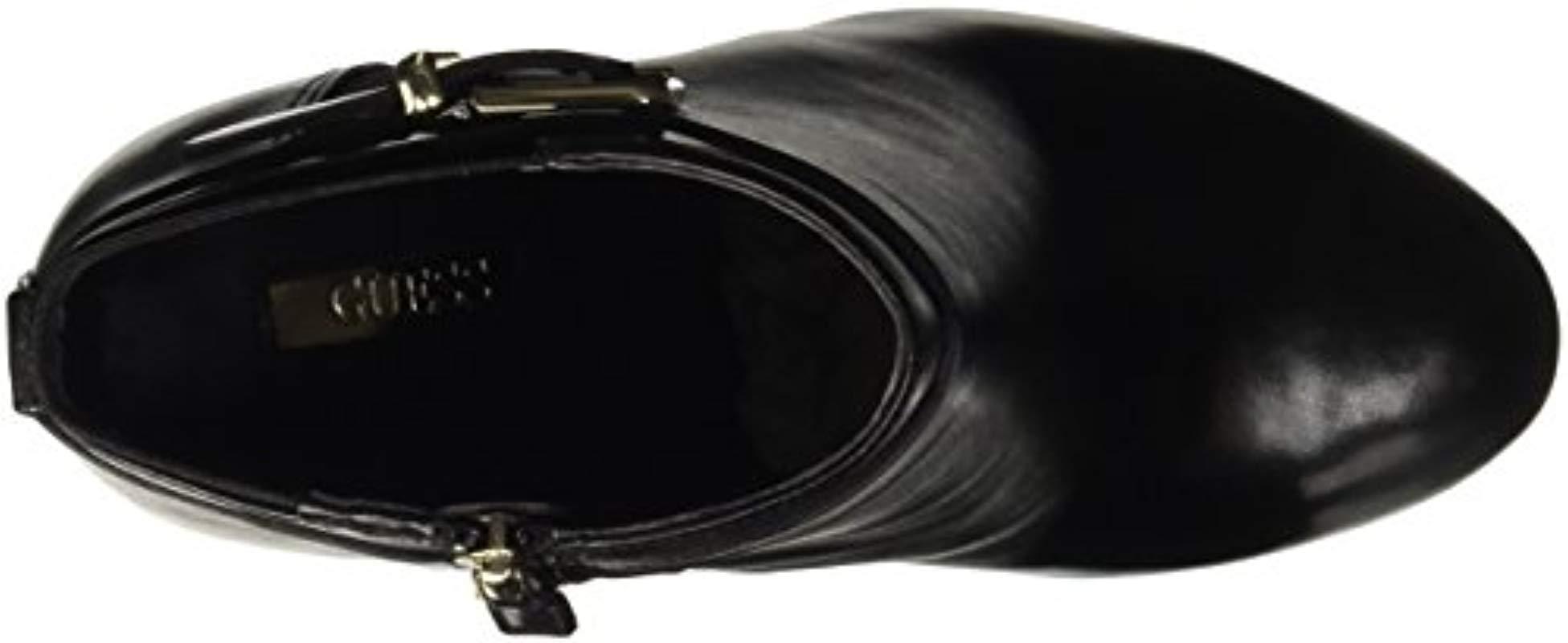 FLDEN4LEA10, Botas Cortas de Tacón Mujer Guess de color Negro