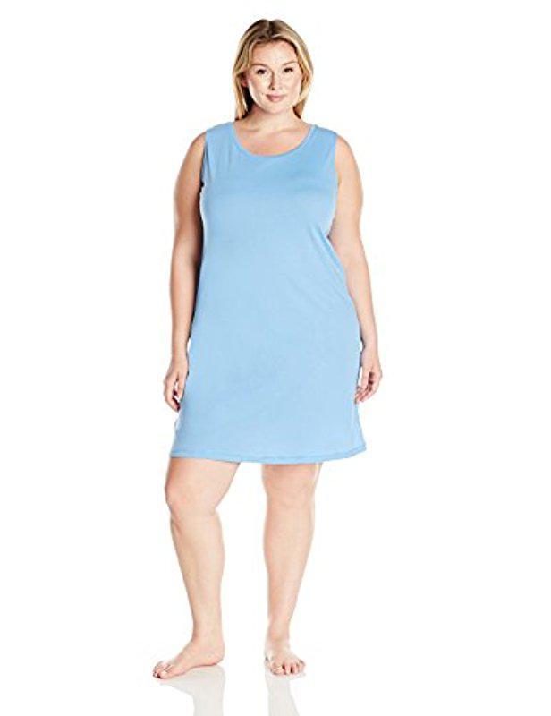f31769aa8b Lyst - Amazon Essentials Plus Size 100% Cotton Sleeveless Nightshirt ...